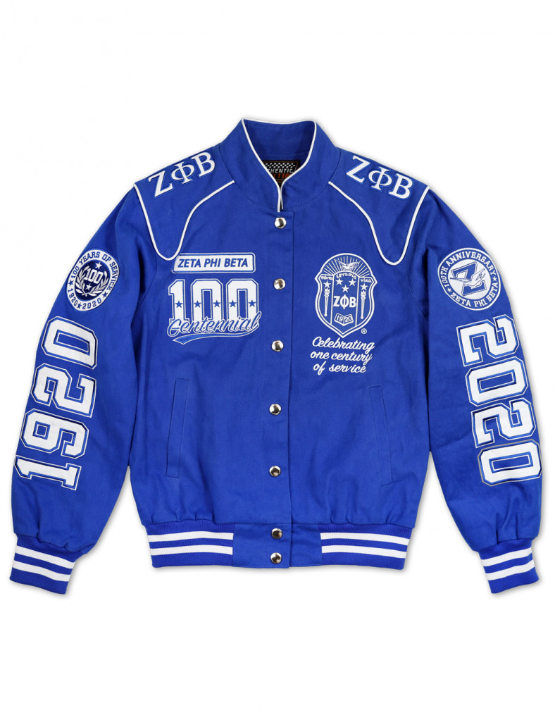 Royal blue, white New! Zeta Phi Beta Sorority Hat and Scarf set